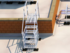 PHP Roof Stairs